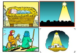 01_Christmas_Crafts: Art and craft; Bible story; Colour; Christmas; Line Art