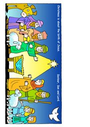 02_Christmas_Crafts: Art and craft; Bible story; Colour; Christmas; Line Art