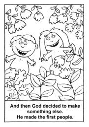 12_Colouring_Creation: Art and craft; Bible story; BW; Coloring; Colouring