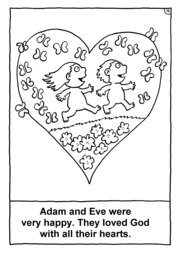 16_Colouring_Creation: Art and craft; Bible story; BW; Coloring; Colouring