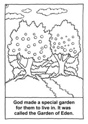 17_Colouring_Creation: Art and craft; Bible story; BW; Coloring; Colouring