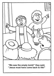 12_Colouring_Jesus_Alive: Art and craft; Art and craft book; Bible story; Black and white; BW; Coloring; Colouring; Line Art