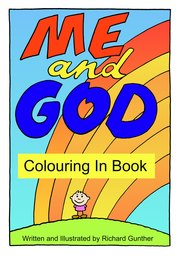 01_Colouring_God_Me: Bible story; Black and white; Colour; Coloring; Colouring; Line Art