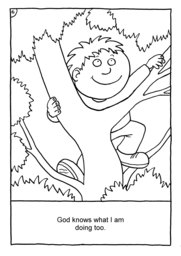 07_Colouring_God_Me: Bible story; Black and white; BW; Coloring; Colouring; Line Art