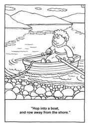 07_Colouring_Peter_Fish: Art and craft; Bible story; Black and white; BW; Coloring; Colouring; Line Art