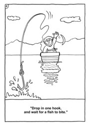 08_Colouring_Peter_Fish: Art and craft; Bible story; Black and white; BW; Coloring; Colouring; Line Art