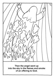 06_Colouring_Samson: Art and craft; Art and craft book; Bible story; BW; Coloring; Colouring; Line Art