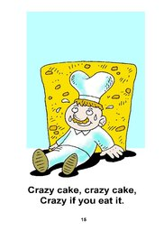 15_Crazy_Cake: Alphabet; Colour; Reading books