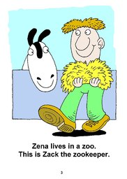 03_Zena_Zebra: Alphabet; Animals; Colour; Reading books