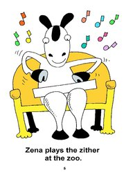 05_Zena_Zebra: Alphabet; Animals; Colour; Reading books