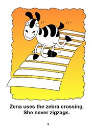 09_Zena_Zebra: Alphabet; Animals; Colour; Reading books