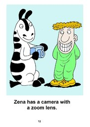 12_Zena_Zebra: Alphabet; Animals; Colour; Reading books