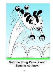 15_Zena_Zebra: Alphabet; Animals; Colour; Reading books