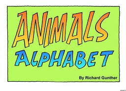 01_Animal_Alphabet: Alphabet; Animals; Colour