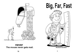 09_Big_Far_Fast_Words: Action words; BW; Verbs