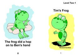 01_Level_2_1_Tim's_Frog: Colour; Reading books