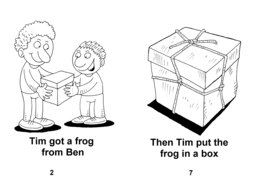 06_Level_2_1_Tim's_Frog: BW; Reading books
