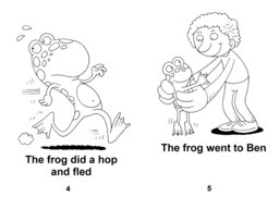 07_Level_2_1_Tim's_Frog: BW; Reading books